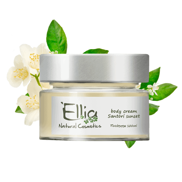 Body Cream with olive oil- santorini sunset 1 - Ellia Natural Cosmetics - Cyprus Europe