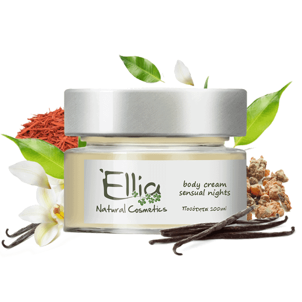 Body Cream  with olive oil - sensual nights 1 - Ellia Natural Cosmetics - Cyprus Europe