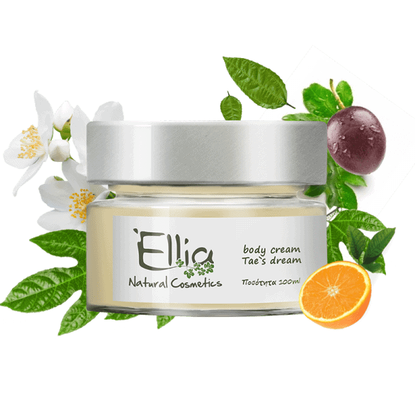 Body Cream with Olive oil - Tae's dream 1 - Ellia Natural Cosmetics - Cyprus Europe