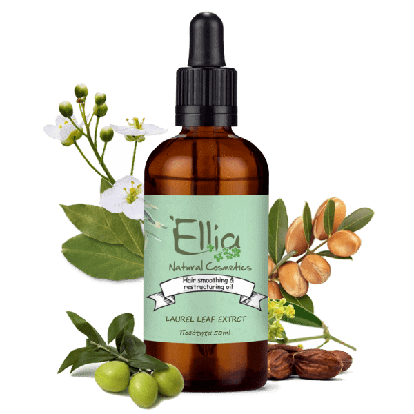 Hair smoothing & restructuring oil 50ml 1 - Ellia Natural Cosmetics - Cyprus Europe