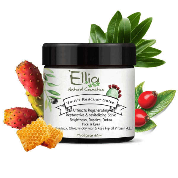 YOUTH RESCUER SALVE - Natural cream  with olive oil and beeswax 1 - Ellia Natural Cosmetics - Cyprus Europe